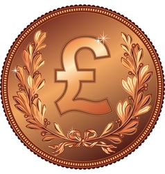gold Money Pound coin vector image vector image