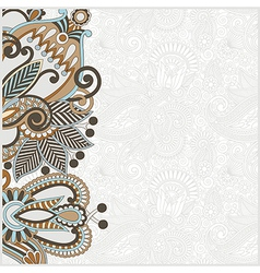 hand draw ornate card announcement vector image vector image