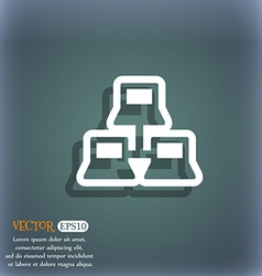 local area network icon symbol on the blue-green vector image vector image