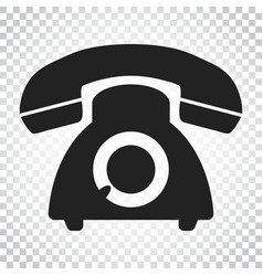 Phone icon old vintage telephone symbol simple vector