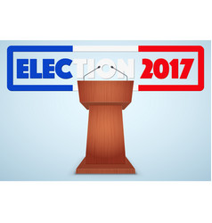 podium tribune with french election symbol vector image vector image