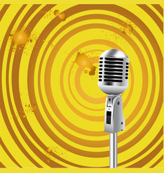 retro microphone old style background vector image