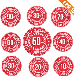 Sale discount tag - - EPS10 vector image vector image
