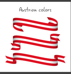 Set of three ribbons with the austrian colors vector
