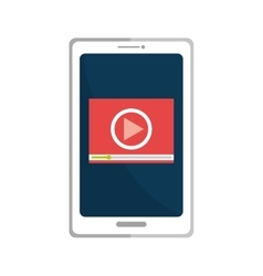 Smartphone playing a video online vector