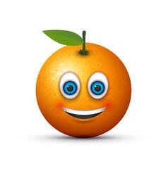smiling orange vector image vector image