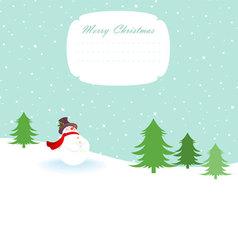 snowman xmas back vector image