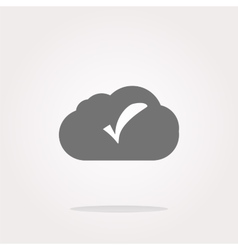 speech bubbles cloud with check mark web icon vector image vector image