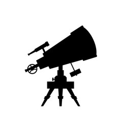 telescope silhouette on white background vector image vector image