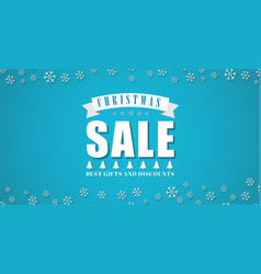 template blue background for the christmas sales vector image vector image