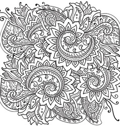 Traditional oriental floral ornament with a lot of vector image