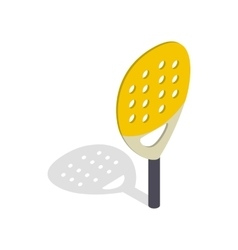 Paddle match racket isometric 3d style vector