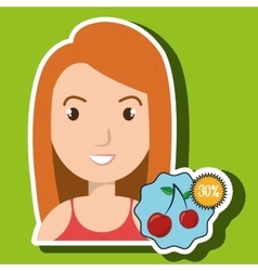 Character buy discount fruit vector