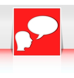talking head with speech bubble - flyer or cover vector image