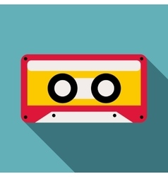 Cassette icon flat style vector image