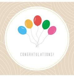 Congratulations card1 vector