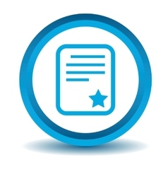 Best document icon blue 3d vector