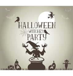 Witches party vector