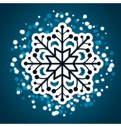 Winte time and snow vector