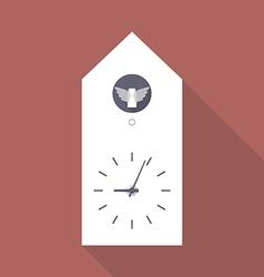 Cuckoo clock flat icon vector image