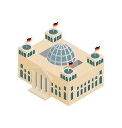 German reichstag building isometric 3d icon vector