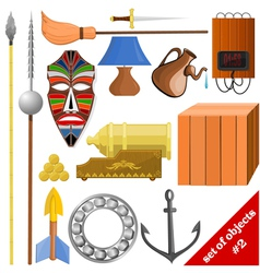 Set of objects eps10 vector