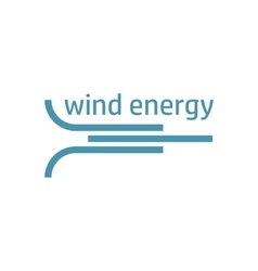 Green energy logo wind flow vector