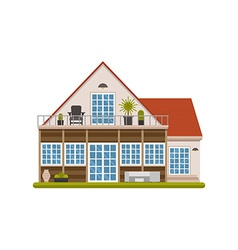 Scandinavian cottage house vector