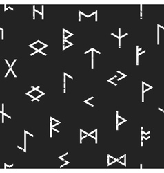 Abstract seamless grunge pattern of Elder Futhark vector image vector image