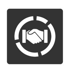 Acquisition diagram icon vector