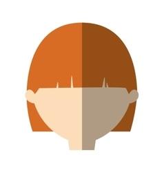 Avatar woman face short hair modern shadow vector