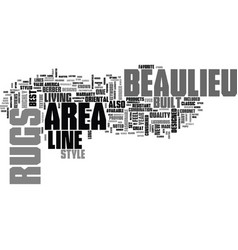 Beaulieu area rugs text word cloud concept vector
