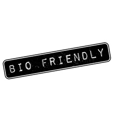 Bio friendly rubber stamp vector