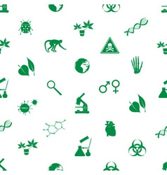 Biology icons seamless pattern eps10 vector