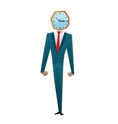 Businessman watch head vector