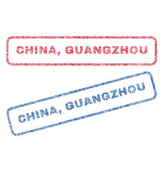 China guangzhou textile stamps vector
