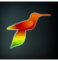 Colorful abstract hummingbird vector