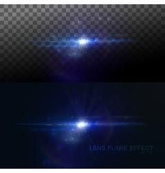 Digital lens flare effect vector
