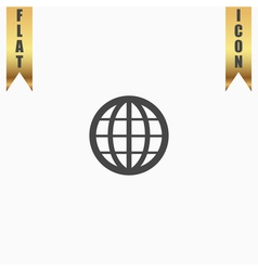 Earth Globe Emblem vector image