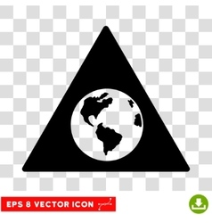 Earth warning eps icon vector