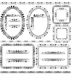 frames borders and ornaments vector image