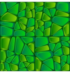 Green bricks abstract seamless pattern vector image