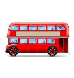 London bus isolated on white vector image