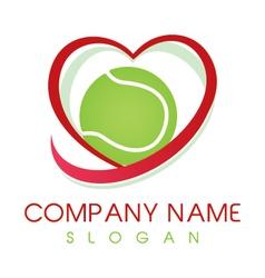 love tennis logo vector image vector image