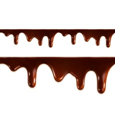 Melted chocolate seamless vector image vector image