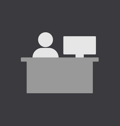 Office worker business vector