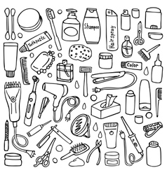 Personal care set vector