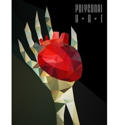 Polygonal modern elements vector image