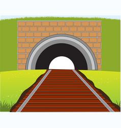 Railway guiding to subway vector