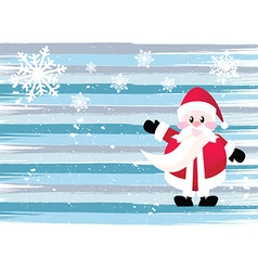 Santa claus cartoon character vector image vector image